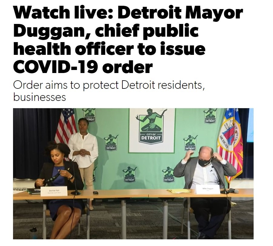 Detroit Press Conference Mayor Duggan Oct 9, 2020